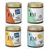 JEM Organics Nut Butter - Fan Favorite, Variety Organic All Natural Almond Butter, Hazelnut Butter and Cashew Butter, Gluten-Free, Vegan, Paleo, Keto Snack, 6 oz 4-Pack