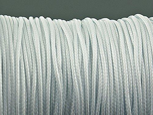 10 m Polyesterkordel gewachst in weiß, 1 mm von Vintageparts, DIY-Schmuck
