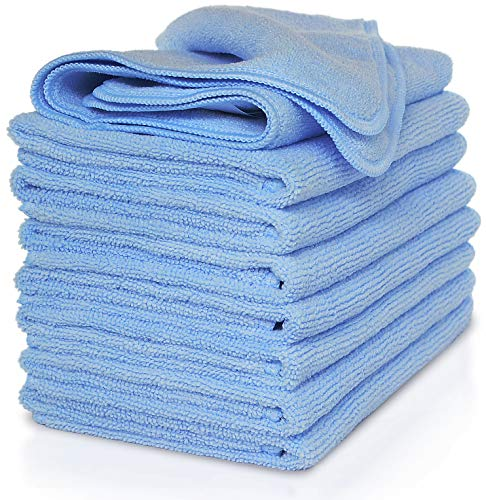 Vibrawipe Microfiber Cleaning Cloth, 8 Pieces (Blue Color Pack), Color Options Available. 14.2 in x...
