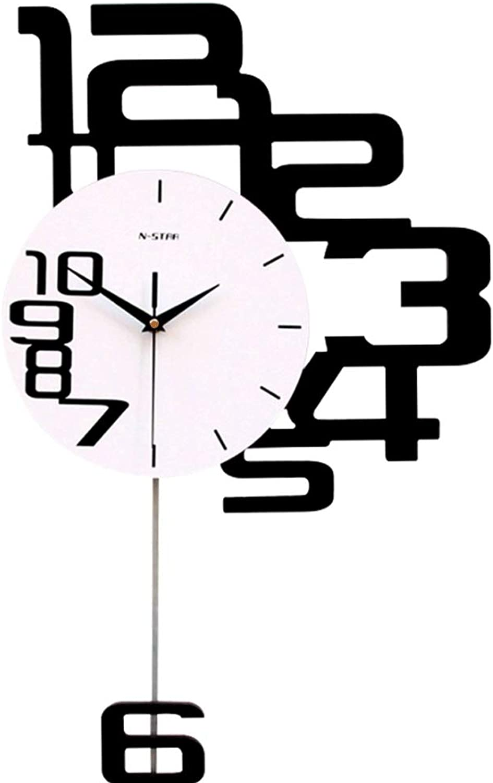 Shuqiccc Reloj Reloj de Parojo Hogar Creativo Reloj de Cuarzo Sala de Estar Decoración Reloj de Parojo Columpio Digital Reloj de Parojo (Color   A, Tamao   50X80cm)