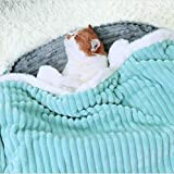 Multifunctional Pet Blanket for Cat, Small Medium Dog Blanket, Cat Dog Clothes or Coat, Mat and Cloak for Pet Puppy Kitten, Double Layers Fabric 1 Inch Thick (M)
