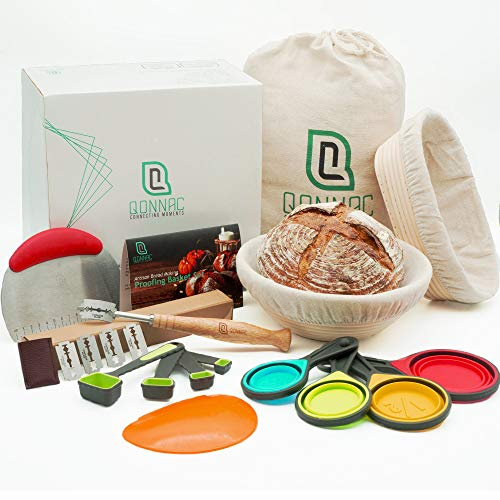 Bread Proofing Basket - 39pcs Most Comprehensive Proofing Basket Kit, includes Banneton Proofing Basket Set of 2, Ideal Baking Gifts for Bakers to Create Artisan Sourdough Bread.