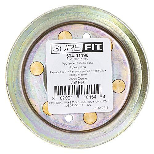 SureFit Flat Idler Pulley Replacement for John Deere AM124346 717 727 737 757 777 797 LT150 LT160 LT180 X500 X590
