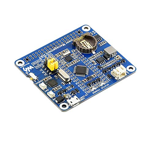 Intelligent Power Management Board ATmega328P MCU PCF8523 RTC Clock CP2102 Real-Time Monitoring Built-in Protection Circuit Smart Control Module for Raspberry Pi
