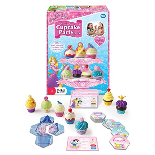 Wonder Forge Disney Princess Enchanted Cupcake Party Game for Girls & Boys Age 3 & Up - A Fun & Fast Matching Party Game You Can Play Over & Over
