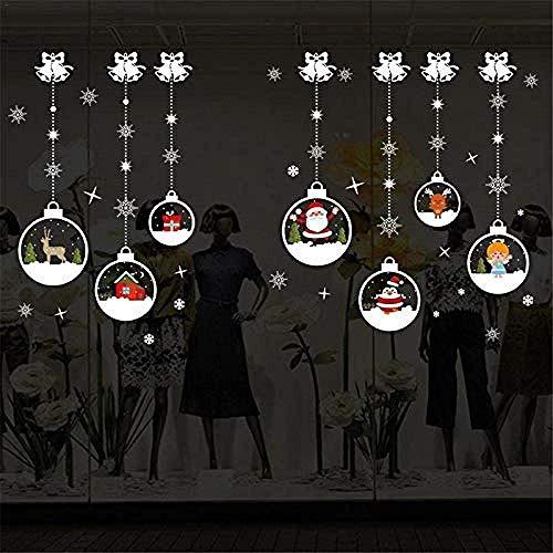 Kerstmis Kristal Bal Ophangkogel Patroon Muurstickers Shop Raam Woonkamer Slaapkamer Decoratie Product Grootte: Ongeveer 50 * 70cm / 19 69 * 27 56in