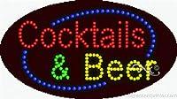 Cocktails &ビールFlashing & Animated High Impactエネルギー効率的なLEDサイン
