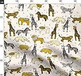 Safari, Dschungel, Zoo, Tiere, Senf, Kinderzimmer Stoffe -