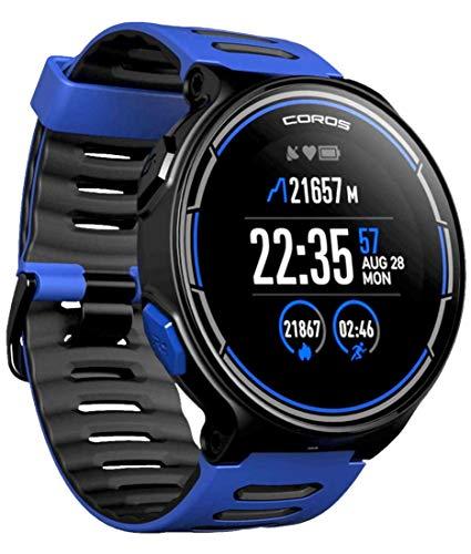 Reloj deportivo GPS Coros PACE con monitorización de frecuencia cardíaca en la muñeca | Incluye funciones de correr, ciclismo, natación y triatlón además de altímetro/barométrico (Azul)