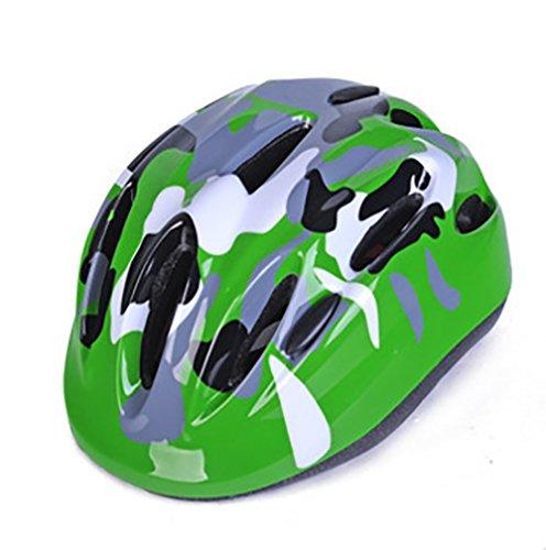 Beautisun Kinder Tarnung Fahrradhelm Verstellbare Größe für 3 bis 11 Jahre alt Sicherer Kinderhelm mit Wassertier Sport Helm für Radfahren Mädchen Jüngen Skaterhelm
