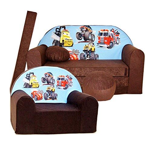 Barabike K14 pour Enfants Ensemble, bébé Lot de 2 pour Enfant Canapé + Fauteuil pour Enfant