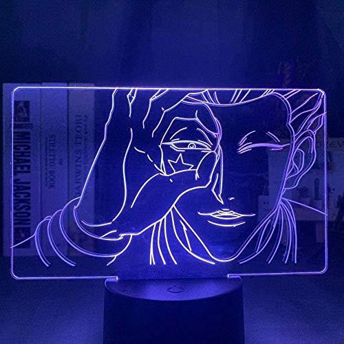 Lámpara de ilusión 3D LED luz nocturna Anime Hisoka Gon y Killua Hunter X Hunter Sky para niños dormitorio decoración lámpara de mesa regalos para niños