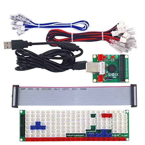 SJ@JX Development Keyboard Encoder Board Game Controller DIY LED Keyboard Development Board Media Music USB Encoder 104 Keys Arcade DIY Kit