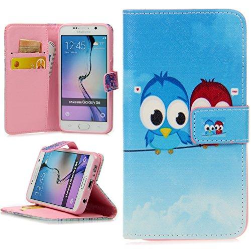 Handy Lux® Schutz Hülle Tasche Kartenfächer Flip Hülle Etui Cover Involto Motiv Design Hülle BookStyle LG G3 s/Mini Zwei Eule