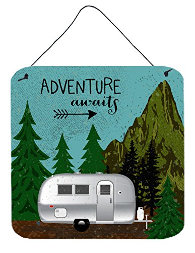 Caroline's Treasures VHA3022DS66 Airstream Camper Adventure Awaits Wall or Door Hanging Prints, 6x6, Multicolor