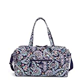 Vera Bradley Women's Signature Cotton Large Travel Duffel Bag, French Paisley,...