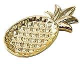 Gwill Gold - Caja de cerámica para Joyas, Recipiente de Almacenamiento para casa, Porcelana, Adornos Decorativos para Plantas (Joyas, bandejas, ánánanas)