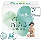 Diapers Size 3, 92 Count - Pampers Pure Protection Disposable Baby Diapers, Hypoallergenic and Unscented Protection, Giant Pack