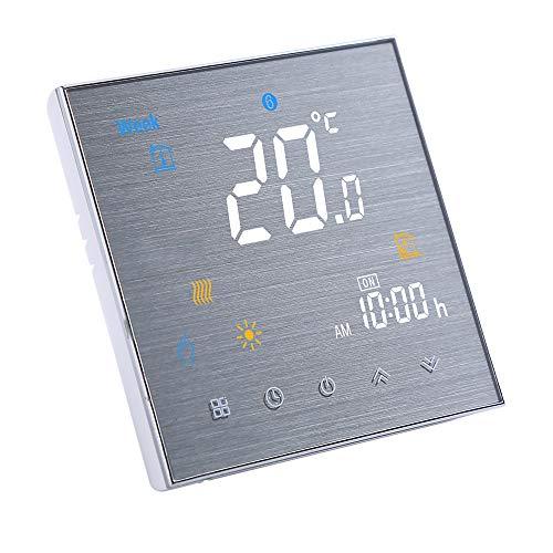 Decdeal Thermostat Raumthermostat Wandthermostat mit Digital 5A 95-240 V LCD Display Touch 0.5 °C Genauigkeit 5+2 Programmierbare