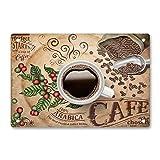 Oddss Delicious Arabica Cafe Cartel de chapas, Lightweight Aluminum Wall Decor Vintage Retro Sign for Men Women Cave Bar Pubs Cafes Home Garage Movie 20x30cm