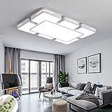LED Lámpara de Techo 78W Interior Plafón Moderna LED de Techo Rectangular De Dormitorio Cocina Sala de estar Comedor Balcón Pasillo (Regulable 3000-6500K)