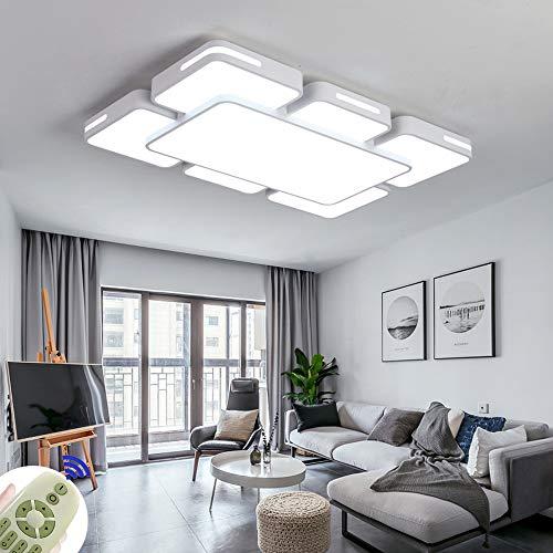 LED Lámpara de Techo 78W Interior Plafón Moderna LED de Techo Rectangular De Dormitorio Cocina Sala de estar Comedor...