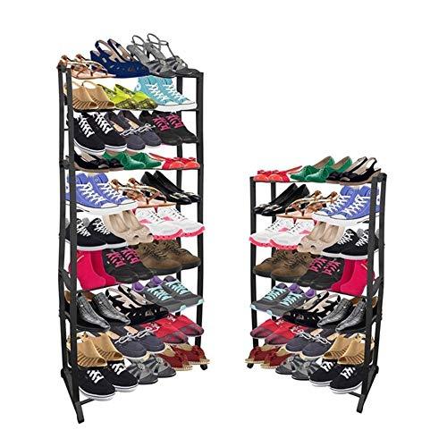 Sapateira vertical de chao gigante com 10 prateleiras 60 sapatos organizador de tenis 30 pares
