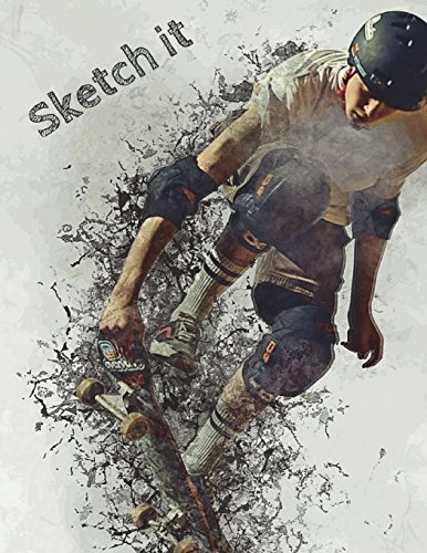 Sketch it: Split Background Wallpaper Decomposition Skateboard