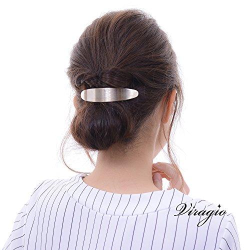 (ヴィラジオ)Viragioバレッタゴールドシルバー大きめヘアアクセサリー髪留め髪飾りヘアシンプルブランドカジュアルvi-1217(ゴールド)