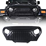 Grille Grid Grill Overlay Cover,Gladiator Vader 1997-2006 TJ J-eep Wrangler Accessories TJ LJ & Unlimited Rubicon Sahara Sports[ Matte Black, ABS]