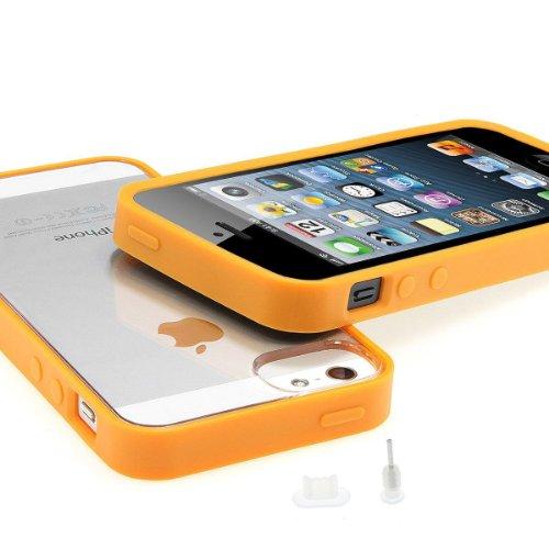 XAiOX Funda con Parte Trasera Transparente para iPhone 5/5S con 2x Protectores...