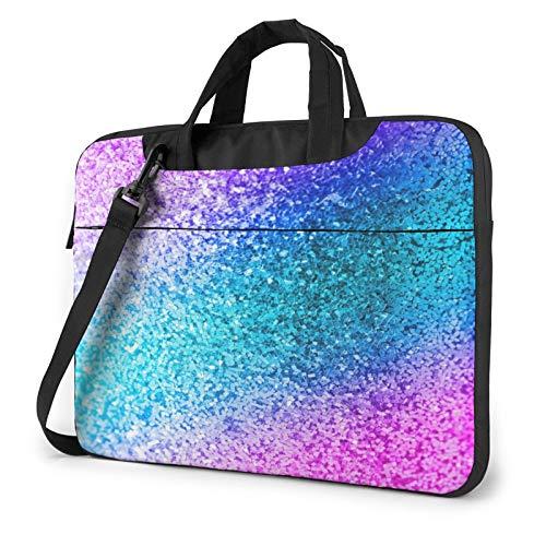 Laptop Case, Glitter Sequin Spot Print Laptop Shoulder Bags Multi-Functional Notebook Sleeve,13-14-15.6 Inch
