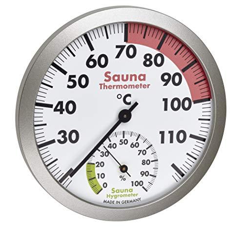 TFA Dostmann Analoges Sauna-Thermo-Hygrometer, hitzebeständige Materialien, Temperatur, Luftfeuchtigkeit