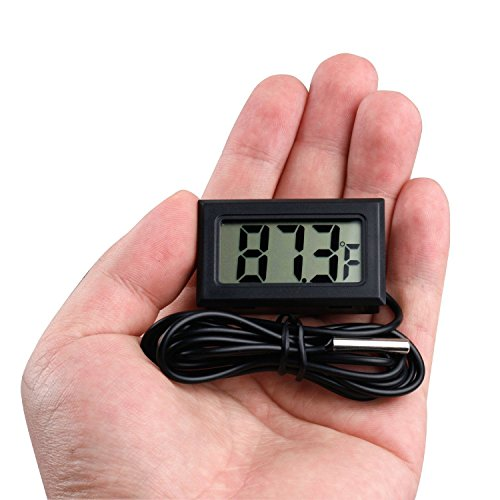REES52 AC116-1 Mini LCD Digital Thermometer Sensor Wired for Room Temperaure