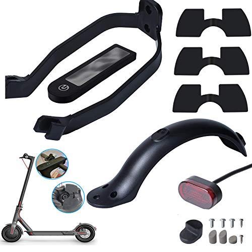 Poweka Guardabarros Trasero Compatible con Xiao-mi M365 / M365 Pro Scooter con Soporte Luz Trasera 3 x Amortiguadores de Vibraciones de Goma y Cubierta de Silicona Resistente al Agua