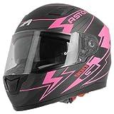 Astone Helmets - Casque de moto GT900 Arrow - Casque intégral large vision - Casque de moto intégral homologué - Casque de moto mixte en polycarbonate - Pink M