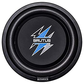 Hifonics BXS12D4 Brutus Shallow Mount Subwoofer  Black  – 12 Inch Subwoofer 500 Watt Car Audio System 3 Inch Voice Coils UV Rubber Surround Best in Sealed Enclosures Marine Grade