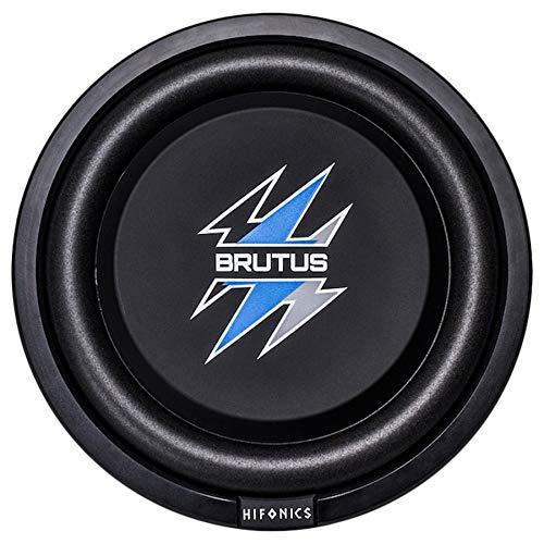 Hifonics BXS12D4 Brutus Shallow Mount Subwoofer (Black) – 12 Inch Subwoofer, 500 Watt, Car Audio System, 3 Inch Voice Coils, UV Rubber Surround, Best in Sealed Enclosures, Marine Grade