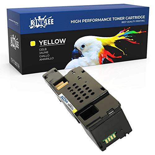RINKLEE C1660 593-11131 Tonerkartusche kompatibel für Dell C1660W C1660DW C1660CN C1660CNW | hohe Reichweite 1000 Seiten | Gelb