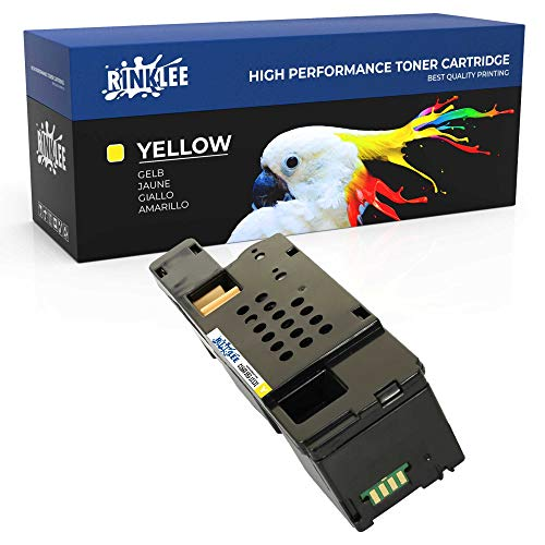 RINKLEE C1660 593-11131 Toner Cartridge Compatible with Dell C1660W C1660DW C1660CN C1660CNW | High Yield 1000 Pages | YELLOW