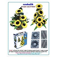 Renkalik Thikas - Moldes Girasoles para Flores, Contiene 2 moldes Grandes