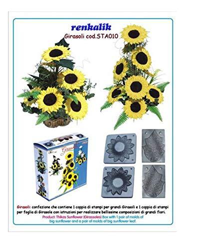 Renkalik Thikas - Moldes Girasoles para Flores, Contiene 2