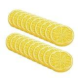 LACKINGONE - Fette di limone artificiale, frutti realistici, limoni decorativi in plastica, per decorazione della casa, colore: giallo