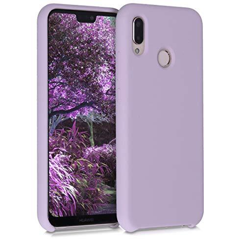 kwmobile Custodia Compatibile con Huawei P20 Lite - Cover in Silicone TPU - Back Case per Smartphone - Protezione Gommata Malva Pastello