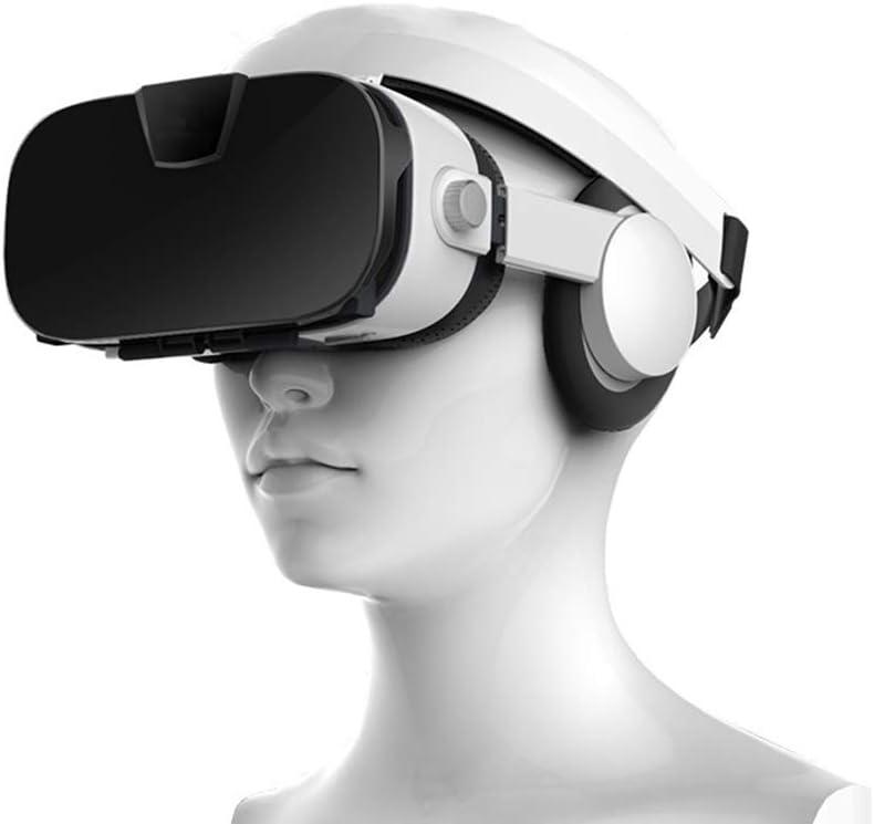 Amadon 3DVR Glasses Gaming Glasses Virtual Reality VR Glasses Smart Glasses Gaming Helmet 112 ° Wide Viewing Angle 360 ° Panorama Compatible 4.0-6.3 Inch Smartphone