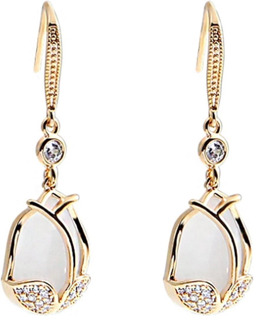 LILINGJIA Earrhee Personality Exaggerated Ear, Ear Hook New Jewelry Tulip Earrings Female Sweet net red Senior Ear