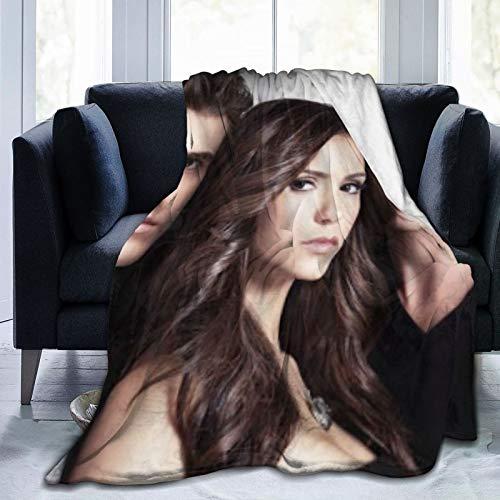 wteqofy Damon Salvatore Ultra-Soft Fleece Blanket Throw Super Soft Fuzzy Lightweight Hypoallergenic Plush Bed Couch Living Room 80'X60'