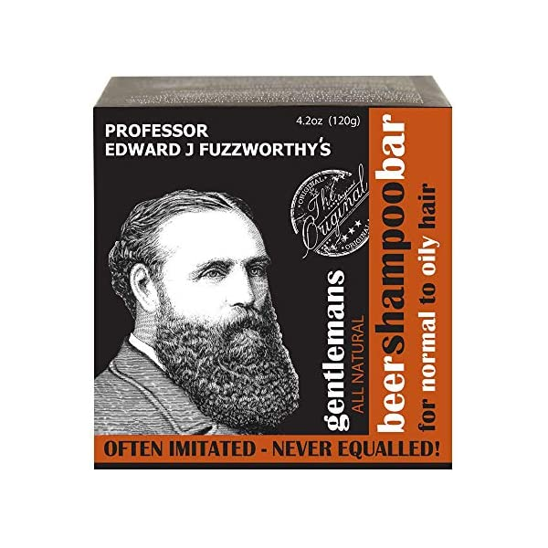 Professor Fuzzworthy's Gentlemans Beer SHAMPOO Bar for Men   Normal, Dry, Oily Hair   Unscented with All Natural… 1