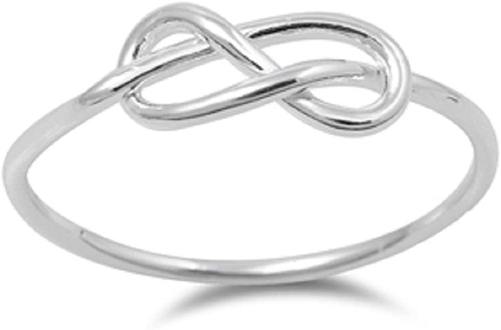 CloseoutWarehouse Sterling Max 88% OFF Silver Infinity Ring Beyond Knot Max 57% OFF and