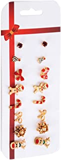 Angoter Regali Gioielli 1 Set Orecchini di Natale Imposta Combinazione Orecchino a Brevi Orecchini del Foro di Orecchio di...